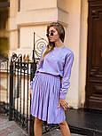 Женский вязаный костюм с юбкой плиссе (в расцветках), фото 5