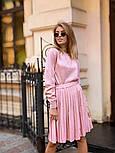 Женский вязаный костюм с юбкой плиссе (в расцветках), фото 7