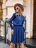 Женский вязаный костюм с юбкой плиссе (в расцветках), фото 8