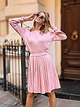 Женский вязаный костюм с юбкой плиссе (в расцветках), фото 4