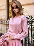Женский вязаный костюм с юбкой плиссе (в расцветках), фото 10