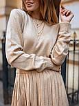 Женский вязаный костюм с юбкой плиссе (в расцветках), фото 3