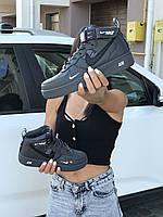 Nike Air Force 1 Женские черные кроссовки (Реплика ААА+)