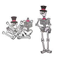Декор настенный 85 см Скелет в Шляпе
