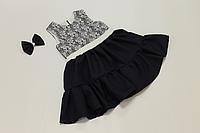 Школьное платье на девочку с воланами
