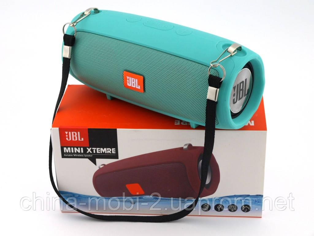 JBL XTREME mini J011 6W копия, блютуз колонка с FM MP3, мятная