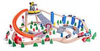 Деревянная железная дорога 130 элементов Woody