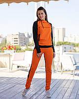 Костюм спортивный женский из двунитки комбинированый с карманами (К28611), фото 1