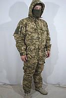 Тактический костюм ВСУ утепленный мужской Украинский камуфляж Пиксель куртка-брюки