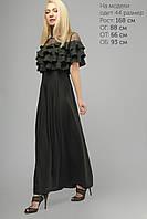 Женское вечернее платье с воланами Lipar Черное