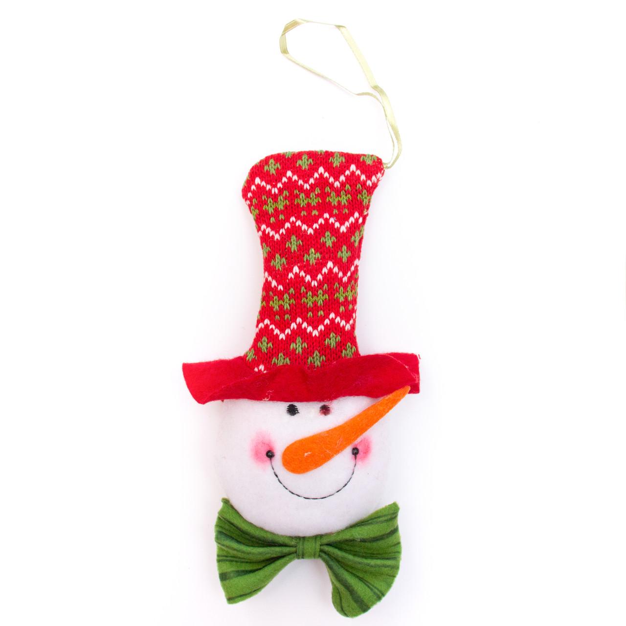 Елочная игрушка из ткани, Снеговик, 20см (430482-2)