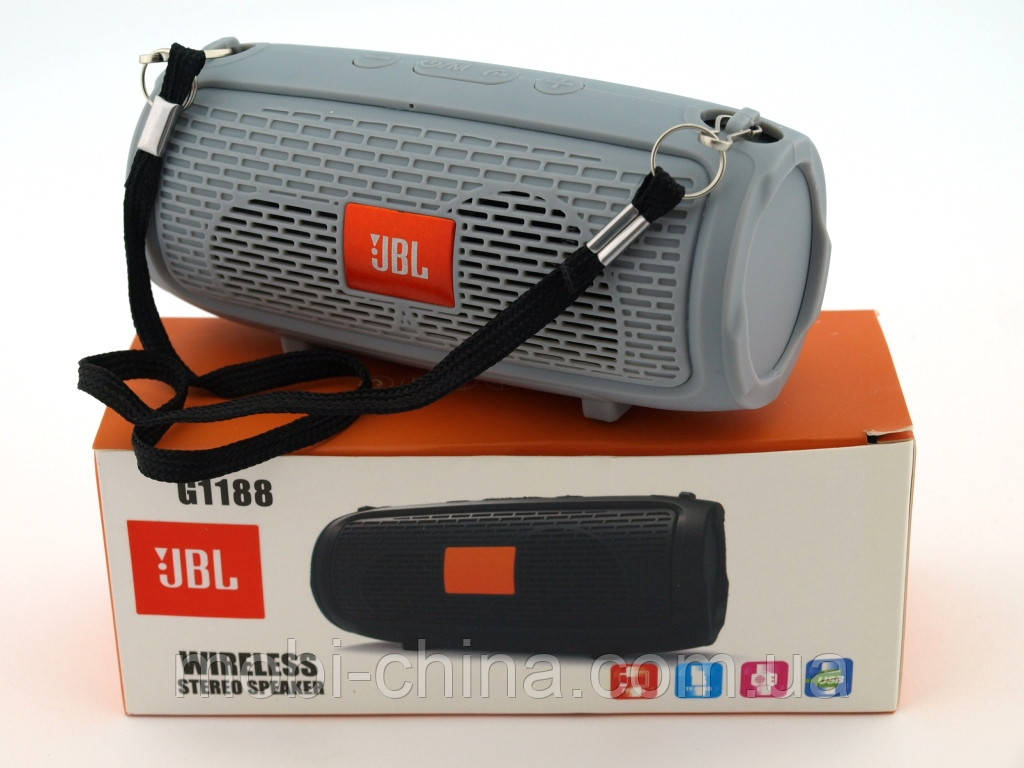 JBL xtreme G1188 mini копия, портативная колонка 3W с Bluetooth FM MP3, серая