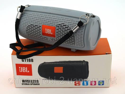 JBL xtreme G1188 mini копия, портативная колонка 3W с Bluetooth FM MP3, серая, фото 2