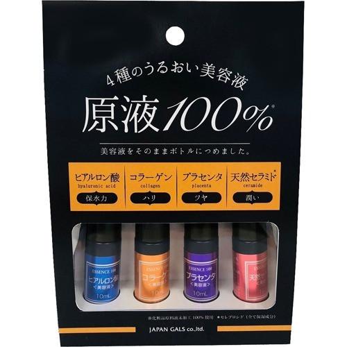 Japan Gals Набор сывороток (керамиды, гиалуроновая кислота, коллаген, плацента), 4 шт по 10 мл