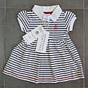 Платье-боди в бело-синюю полоску (Z&M, Турция), фото 7
