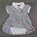 Платье-боди в бело-синюю полоску (Z&M, Турция), фото 3