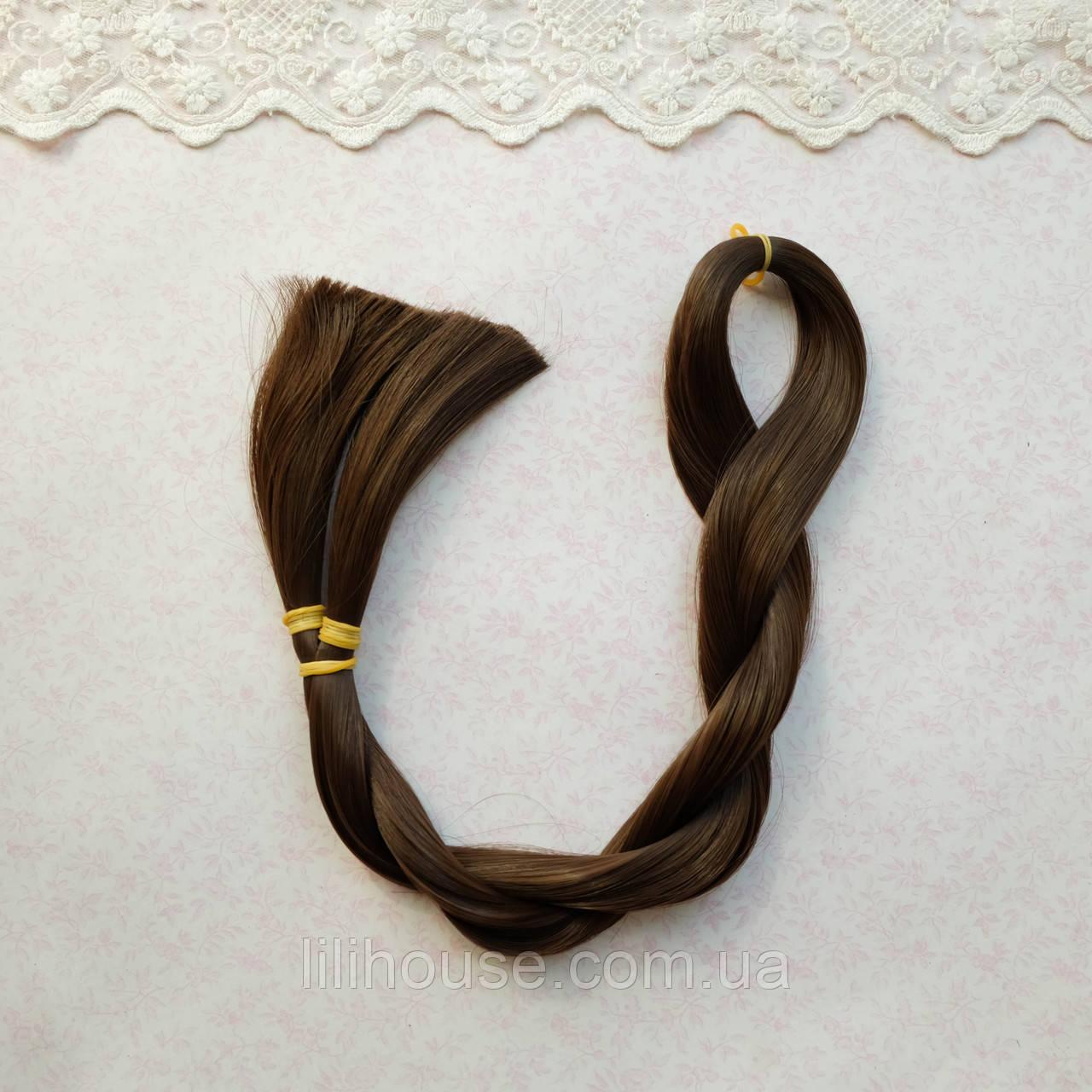 Волосы для Кукол для Перепрошивки 80 см КАШТАН 50 гр