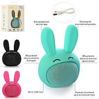 "Колонка ""Зайчик"", аккумулятор, Bluetooth, USB зарядное, 3 цвета, MB-M815"