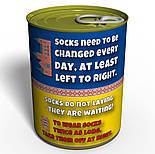 "Консервированные подарки ""Canned clean socks socks Ukraine"", фото 3"