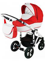 Детская коляска-трансформер Adamex  758S Galactic кожа 2 в 1