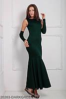 Элегантное вечернее платье-рыбка с митенками Noren