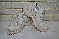 Модные женские кроссовки кожаные на платформе  RS 2070/2, фото 1