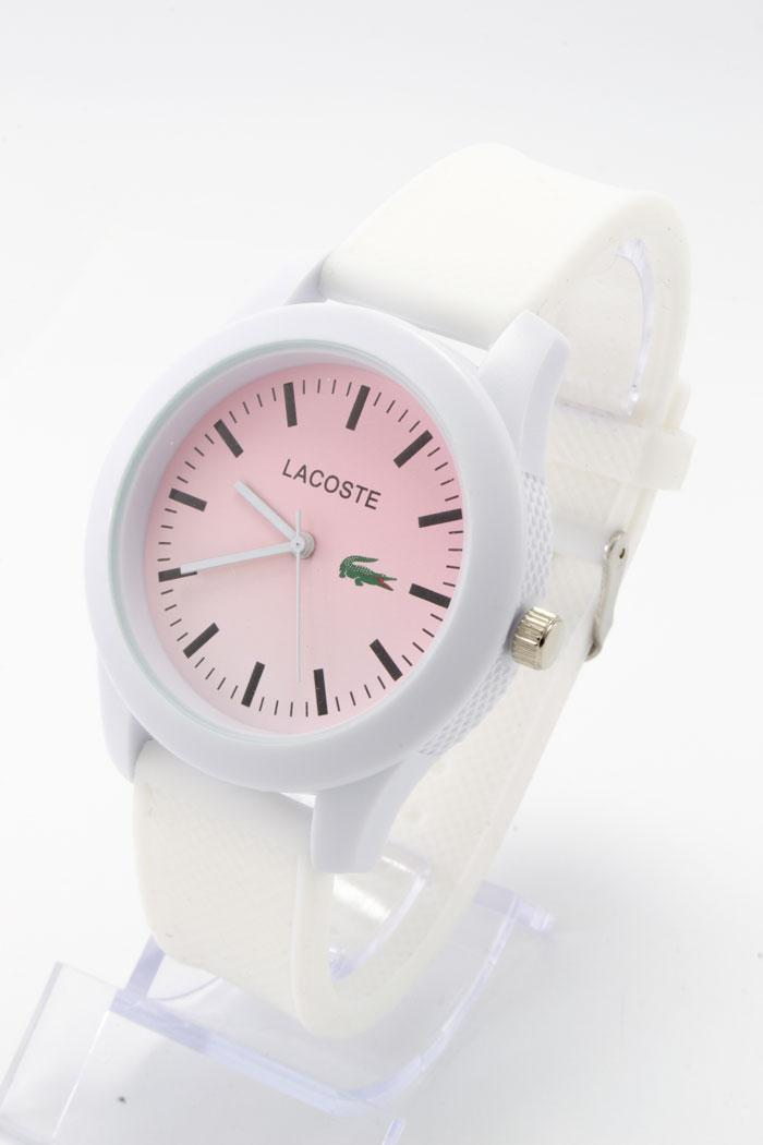 Женские наручные часы Lacoste (Лакост), белый с розовым ( код: IBW219OP )