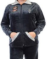 Велюровый женский спортивный костюм K130-2