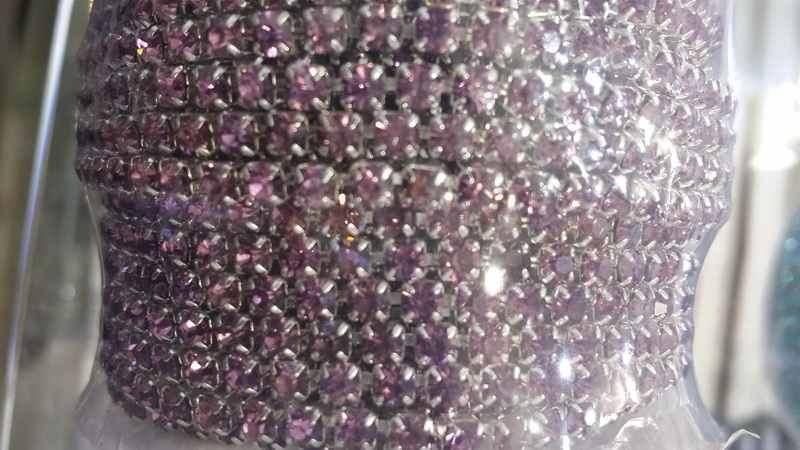 Камни в оправе SS12 10ярд фиолетовые