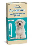 Капли на холку от блох и клещей ПрофиЛайн (Профілайн) Природа для собак до 4 кг, 1 пипетка