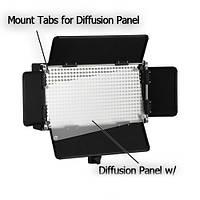 Би-светодиодный постоянный студийный свет Lishuai Fotodiox LED-500ASV + цифровой диммер