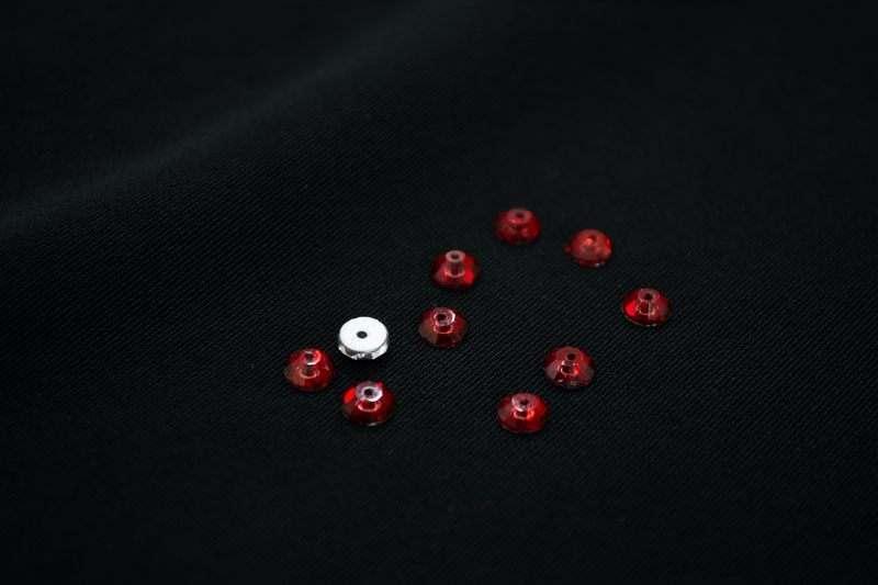 Камни пришивные круглые №5 (1444шт), бордовые