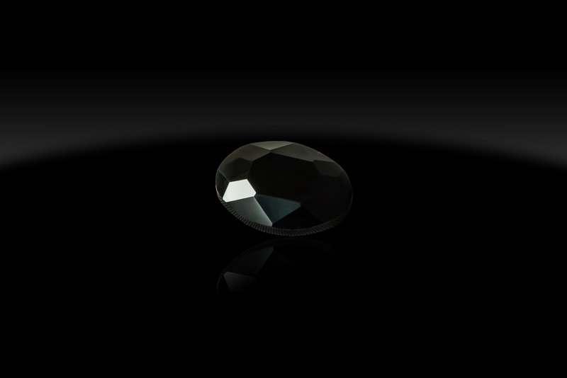 Камни чёрные 13*18 овалы, шт
