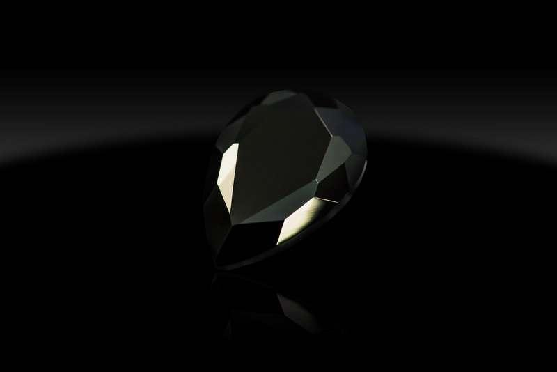 Камни чёрные 20*30 капли, шт