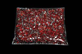 Камни-пластмасса №4 красная (127г)