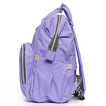 ✸Сумка для молодых мам Maikunitu Mummy Bag Purple городской рюкзак для хранения детских вещей с термокарманами, фото 3