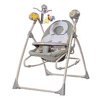 Кресло-качалка (3 в 1) для малышей CARRELLO Nanny CRL-0005 Green Zigzag