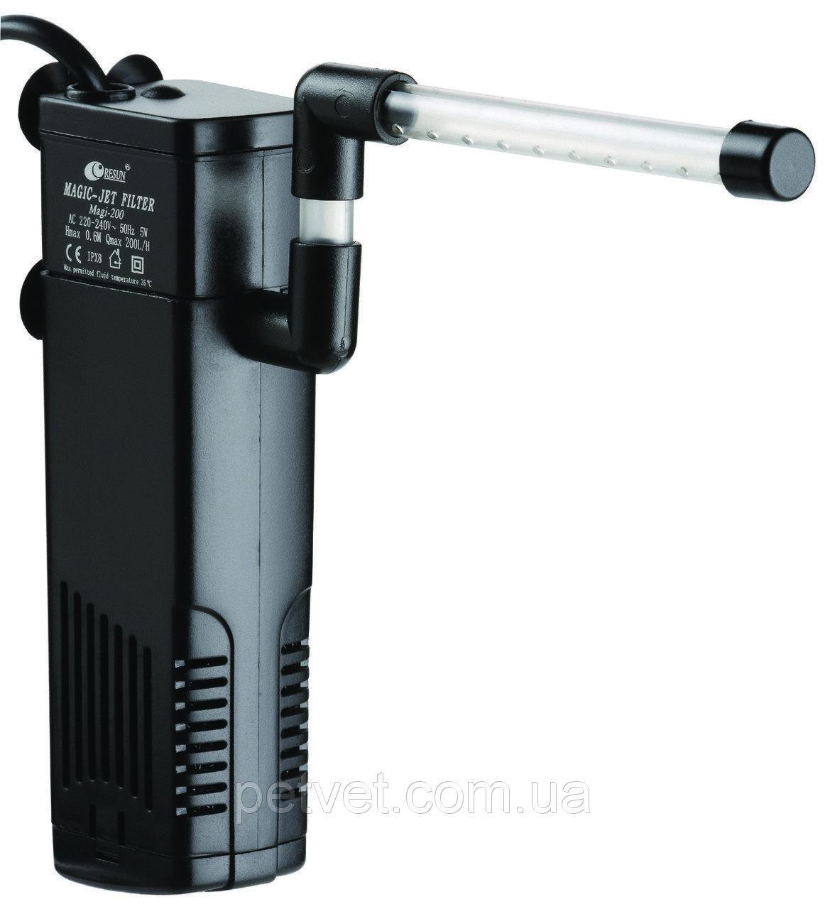Внутренний фильтр для аквраиума до 50 л Resun Magi 200 (200 л/ч, 5 Вт)
