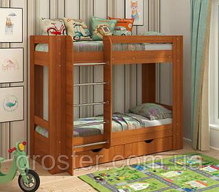 Детская двухъярусная кровать с ящиками для белья Дуэт-3
