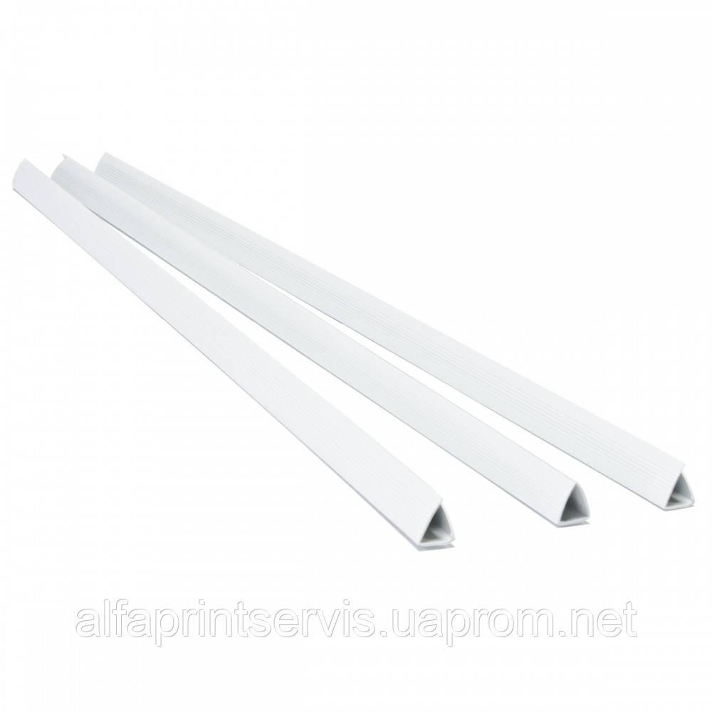 Планки затиск - 12мм, бел, уп/100