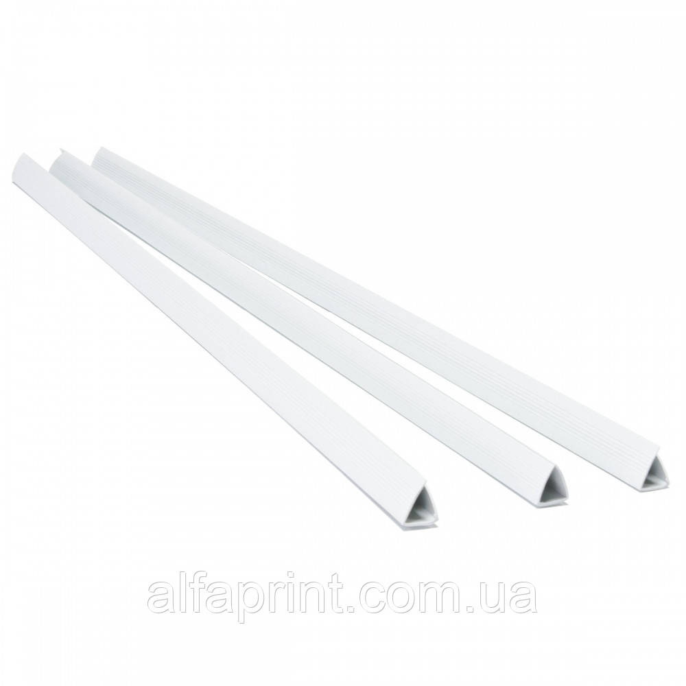 Планки зажим - 12мм, бел, уп/100