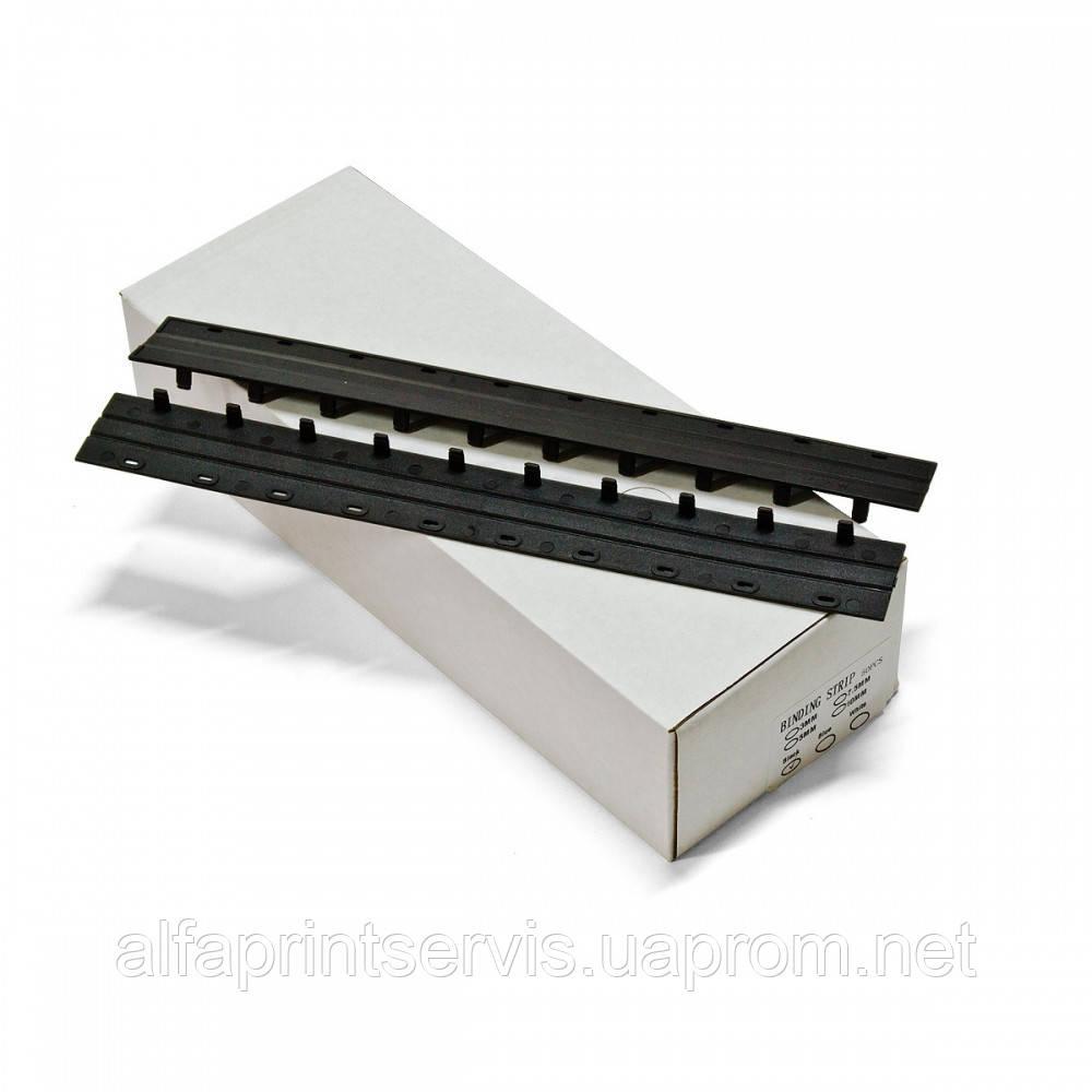 Пластини Press-binder 15мм черн, уп/50.