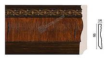 Плинтус напольный Арт-Багет 153-2, интерьерный декор