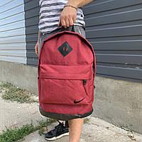 Рюкзак городской мужской, женский, для ноутбука   Nike (Найк) черный-красный (бордовый)
