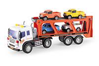 Инерционный трейлер-автовоз  с машинками