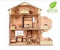 Кукольный домик (Материал:Берёзовая Фанера 4мм,Размер:530*500*200)