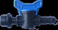 Кран стартовый для капельной трубки с уплотнительной резинкой Evci Plastik 16 мм