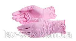 Перчатки нитриловые SafeTouch (розовые) (XS, S, M)