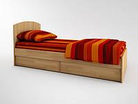 Кровать с ламелями и ящичным блоком АКВАРЕЛЬ, фото 1