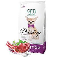 Optimeal Cухой корм для взрослых собак малых пород гипоаллергенный -с высоким содержанием ягнятины и рисом 4кг
